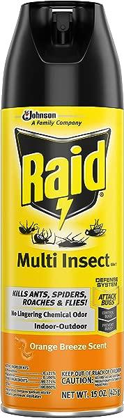 Raid Multi Insect Killer Orange Breeze 15 OZ Pack 1
