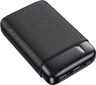 RIWNNI Mini Powerbank 10000mAh, Ultra Compatto batteria esterna Caricabatterie Portatile con 2 Ingresso e 2 Uscite Ricaric...