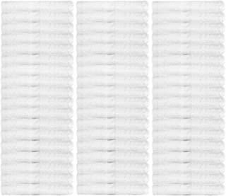 Wealuxe Cotton Washcloths - Soft Absorbent Bathroom Face Towels - 12x12 Inch - White - 48 Pack