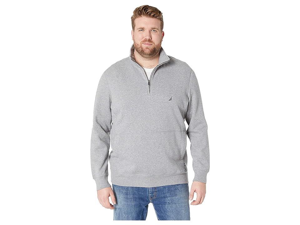 Nautica Big & Tall Big Tall Fleece Basic (Stone Grey Heather) Men