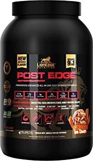 LionEdge Nutrition - Post Edge Bioavailable Post Workout 9-in-1 Protein Powder | S'Mores Ice Cream Flavor | 20 Servings, 45g | NO Proprietary Blends | Keto Friendly | Sugar Free