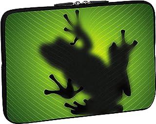 PEDEA Laptop Bag Case Design Sleeve for 17.3 inch, Green Frog