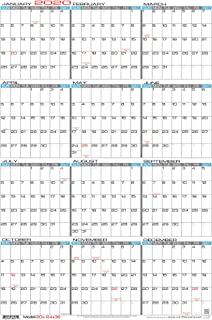 "JJH Planners - Laminated - 24"" X 36"" Large 2020 Erasable Wall Calendar - Vertical 12 Month Yearly Annual Planner (20v-24x36)"