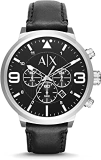 Armani Exchange Men's AX1371 Black Leather Watch