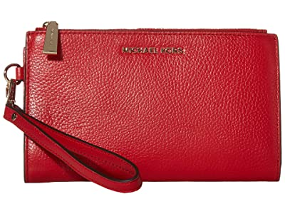 MICHAEL Michael Kors Double Zip Wristlet (Bright Red) Wristlet Handbags