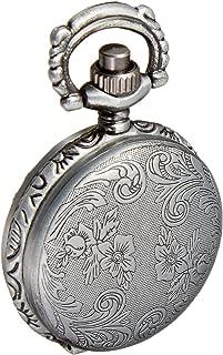 Solid Oak Steampunk Metal Pendant 1/Pkg-Small Pocket Watch Case Silver