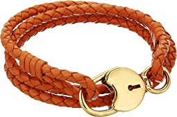 Braided Lock Triple Wrap Bracelet