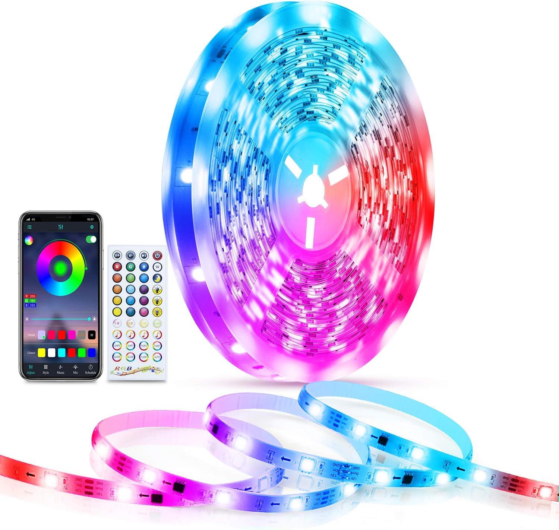 LED Lights famous for Bedroom 32.8 ft TASMOR Strip Led Light Bluetooth Regular dealer