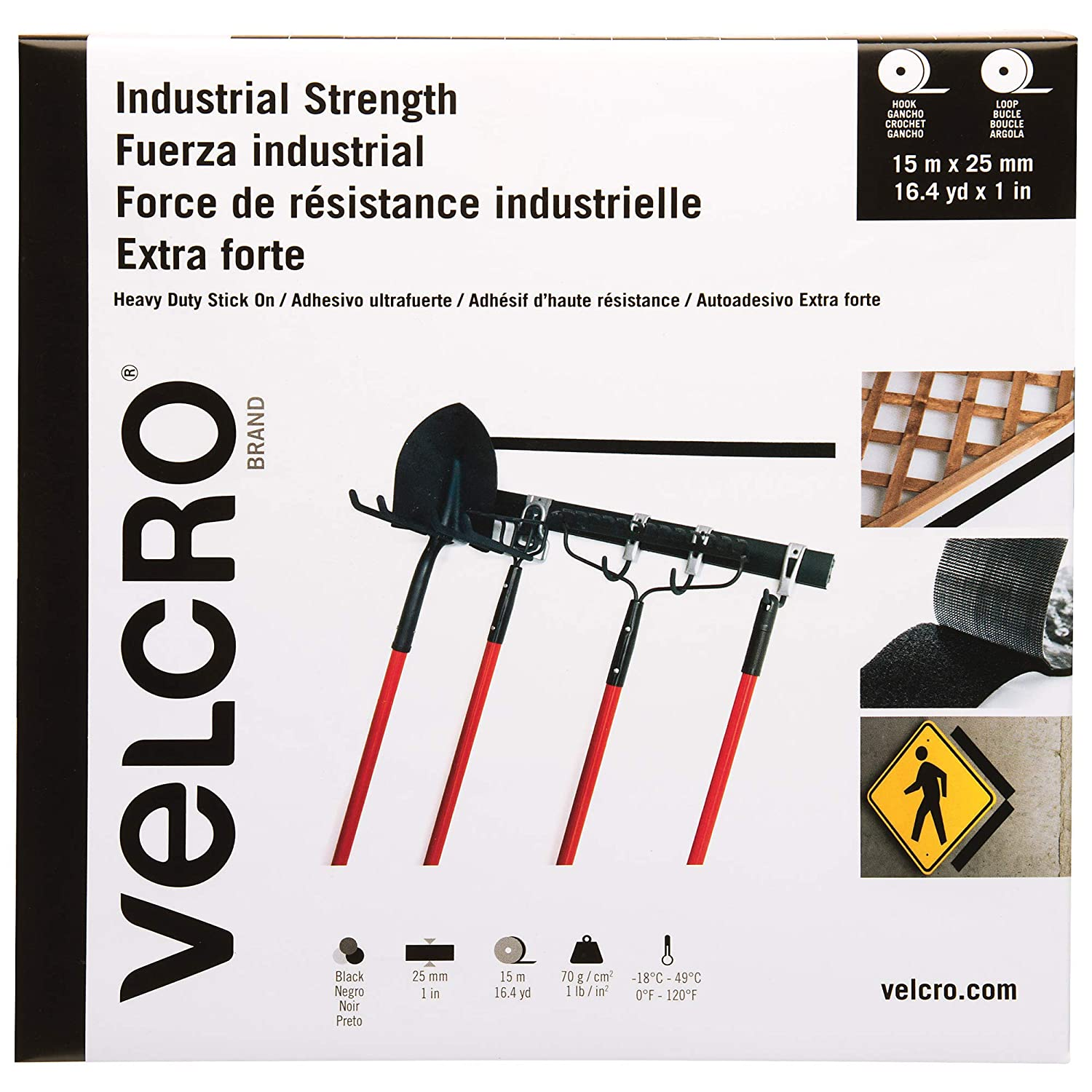 Velcro Brand Tape Industrial Strength Combo x 50' Indefinitely Bl Packs free shipping 1
