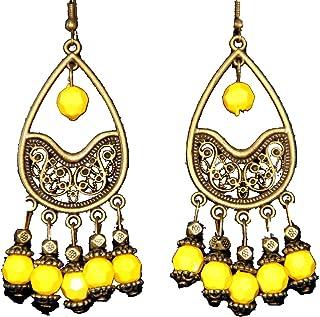 Highwaypay Handmade Beaded Earrings Bohemian Tassel Teardrop Earrings for Women Girl 1969