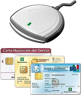 SCR3310 V2.0 - Nuovo Lettore USB per la Tessera Sanitaria Carta Nazionale dei Servizi TS-CNS, attivazione SPID, Firma Digi...