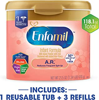 Enfamil A.R. Spit Up Baby Formula Gentle Milk Powder, 118.1 ounce - Omega 3 DHA, Probiotics, Immune & Brain Support