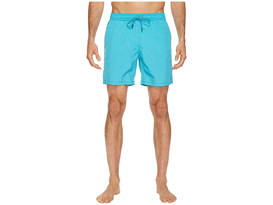 Mr. Swim Shimmer Printed Dale Swim Trunk (Cerulean) Men