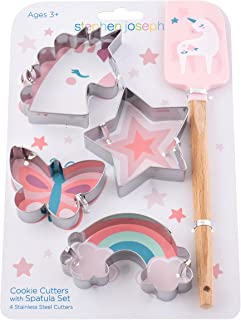 Stephen Joseph, Kids Cooking Cookie Set, Kids Toddler Cookie Cutter and Spatula, Unicorn,OS,SJ1245