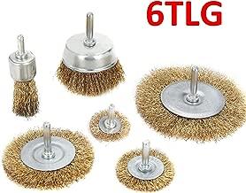 7 tlg.Drahtbürstensatz  mit Schaft für Bohrmaschine Handdrahtbürste Bürste