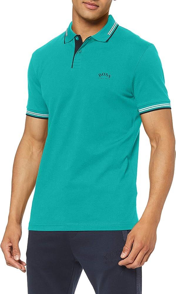 Boss paul curved,maglietta, polo per uomo,92% cotone, 8% elastan 50412675