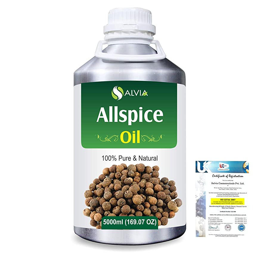 マーキング帰するマニフェストAllspice (Pimenta officinalis) 100% Natural Pure Essential Oil 5000ml/169fl.oz.