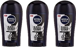NIVEA MEN Black & White Invisible Original, Antiperspirant for Men, Stick 40 ml, Pack of 3