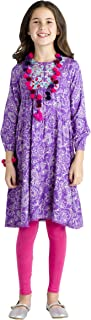 Masala Kids Girls' Gypsy Violet Dress