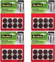 Scotch Brand SP822-NA Scotch Felt Pads Round, 1 in. Diameter, Brown, 32/Pack (4)