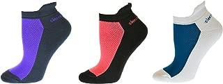 Sierra Socks Women's Cotton Heel Guard Mesh Top Anklet Socks SWPMT 4005