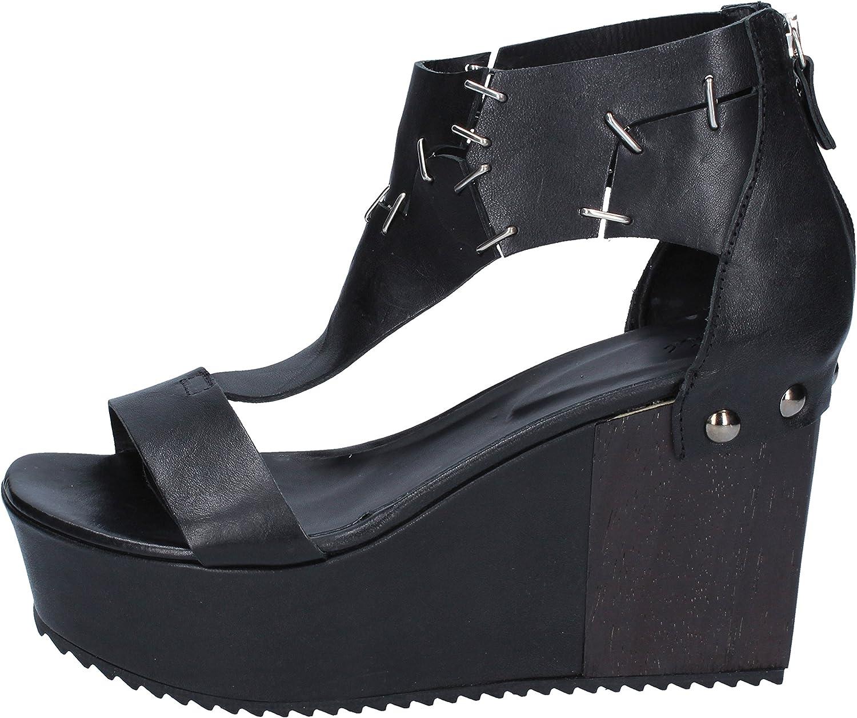 VIC Sandaler kvinnor läder svart svart svart  begränsad utgåva