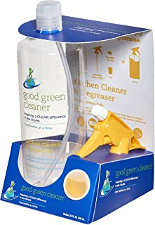 Good Green Cleaner Kitchen Cleaner and Degreaser Starter Set 32 oz. Food Contact Safe. Reusable, Recyclable, Biodegradable, Sustainable, Heavy Duty Stove, Microwave, Grill, Oven Cleaner, Non Toxic