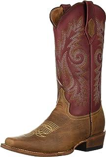 حذاء Feralistic غربي Roughrider رجالي عريض مربع اصبع القدم - 12171-39