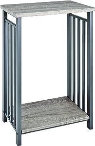 "Haku Möbel 27734 Consola Negro/Roble ""Antique"" 30 x 45 x 74 cm"