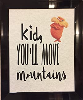 Dr. Seuss You Will Move Mountains Quote Children's Prints Artwork Picture Poster Home Office Bedroom Nursery Kitchen Wall Decor - unframed
