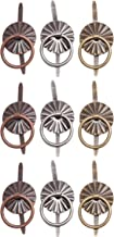 Tim Holtz Idea-ology Ring Fasteners, 9 Brad Fasteners with Fluted Tops and Attached Jump Rings, Nickel, Brass, Copper, Craft Embellishments, TH93060