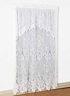 Carol Wright Gifts Lace Panel with Valance, White, Size 60