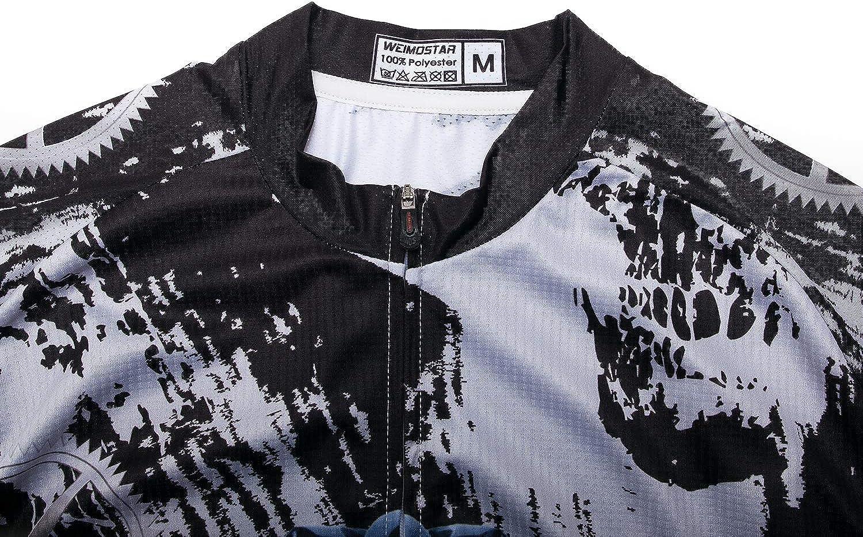 Weimostar Mens Cycling Jersey Short Sleeve Bike Shirt Tops Pockets