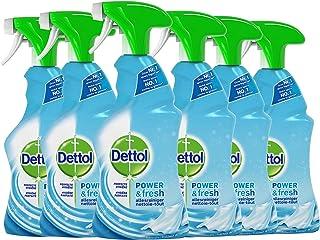 Dettol Power en Fresh Allesreiniger Spray Katoenfris 6 x 500 ml Grootverpakking