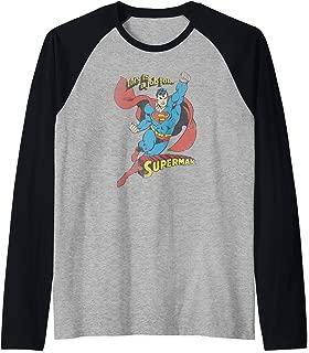 Superman On the Job Raglan Baseball Tee