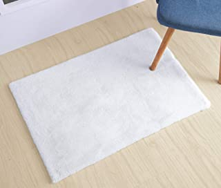 Junovo 2ft x 3ft Super Soft Rabbit Faux Fur Rugs Children Play Carpet with Shaggy Thick Fluffy Bedside Rug Extremely Comfortable Floor Mats for Living & Bedroom, White