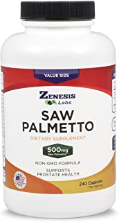 Saw Palmetto Extract - 240 Capsules - 500mg Per Capsule - More Than 200% More Capsules Than Competitors