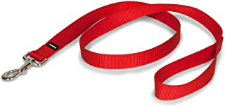 (2.5cm . x 1.2m, RED) - PetSafe Nylon Dog Leash, Strong and Durable Traditional Style Leash with Easy to Use Collar Hook, ...