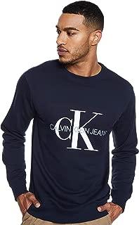 Calvin Klein Men's J307742-Navy Blue Pullover Tops