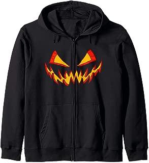 Halloween Scary Jack O'Lantern Pumpkin Men Women Teens Kids Zip Hoodie