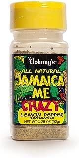 Johnny's Jamaica Me Crazy Lemon Pepper, 3.25 Ounce (Pack of 6)