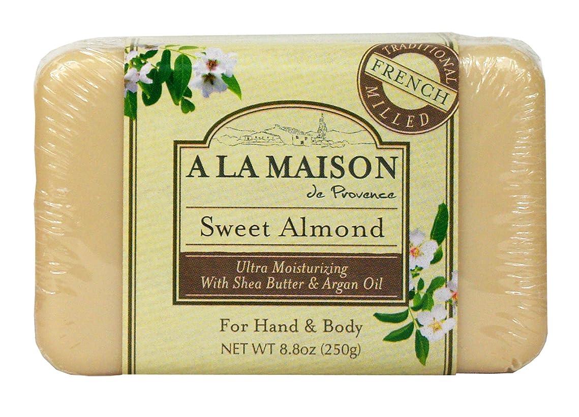 削減サッカージョブBar Soap Sweet Almond - 8.8 oz by A La Maison