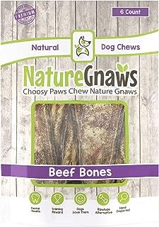 Nature Gnaws Roasted Beef Rib Bones - 100% Natural Dog Chews