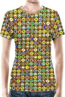 Rainbow Rules Wilderness Explorer Badges Disney Up Inspired Women Cotton Blend T-Shirt