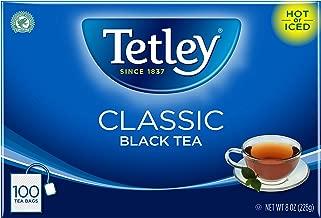 Tetley Black Tea Bag, Classic, 100 Count, Pack of 6