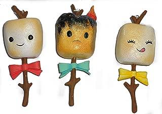 Toasted Campfire Marshmallow Christmas Tree Ornaments-Set of Three-5