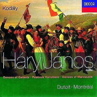 Kodaly: Hary Janos Suite, Dances of Marosszék, Peacock Variations, Dances of Galánta