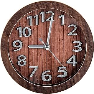 Quartz Analog Large Numerals Bedside Table Desk Alarm Clock Hotel Celebres Battery Operated Sweep Second Hand Vintage Retro Living Room Decorative Non-Ticking