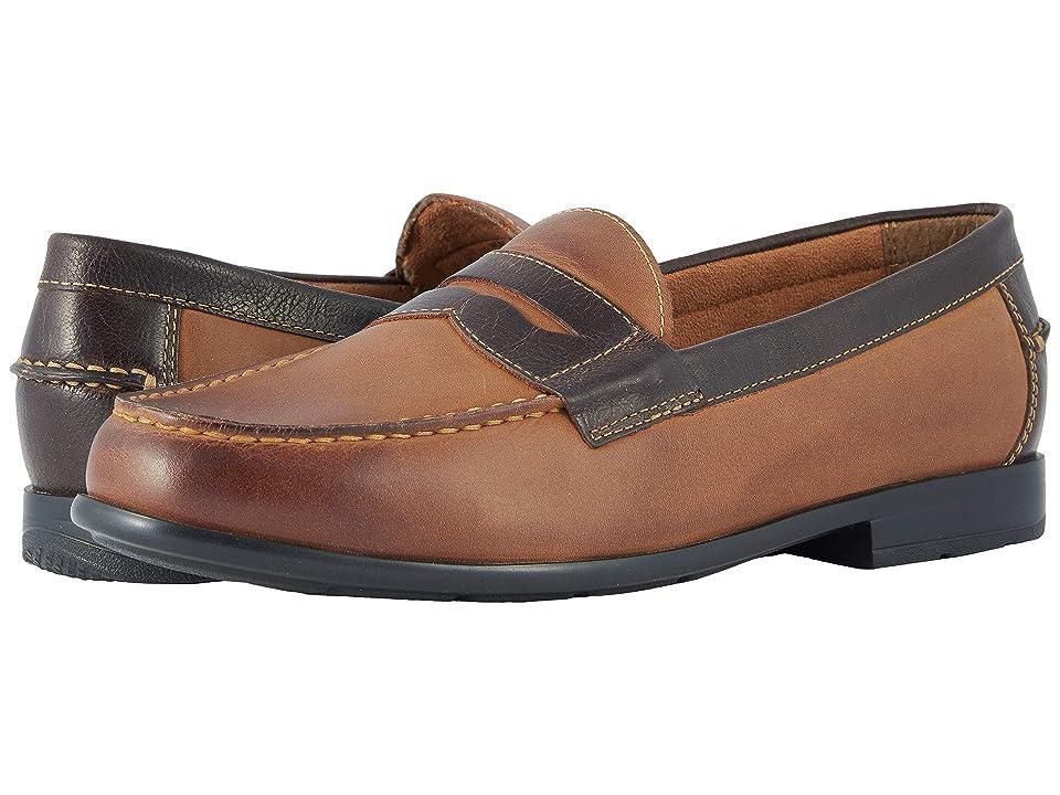125af92dd38 Nunn Bush Drexel Moc Toe Penny Loafer with KORE Walking Comfort Technology  (Brown Scotch) Men s Slip on Shoes