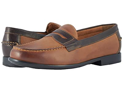 Nunn Bush Drexel Moc Toe Penny Loafer with KORE Walking Comfort Technology (Brown/Scotch) Men